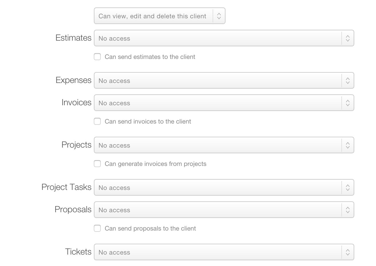 User Roles Per Client