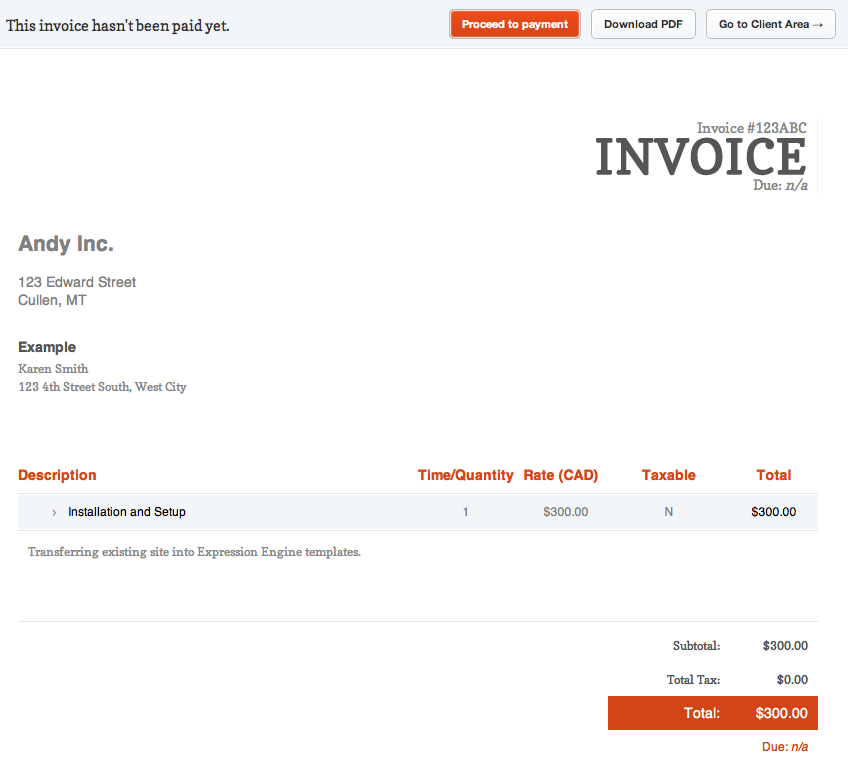 App Screenshot  How To Invoice Clients